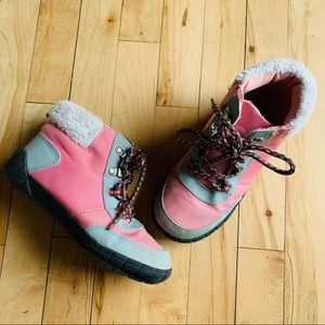 Gymboree Pink Lace-Up Boots Girls Size 1
